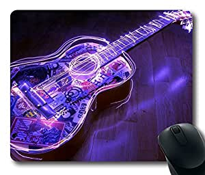 Music Guitar Purple Light Masterpiece Limited Design Oblong Mouse Pad by Cases & Mousepads