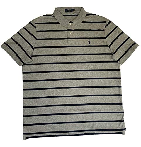 Polo Ralph Lauren Men's Soft Touch Classic Fit Short Sleeve Polo Shirt Striped Two-Button