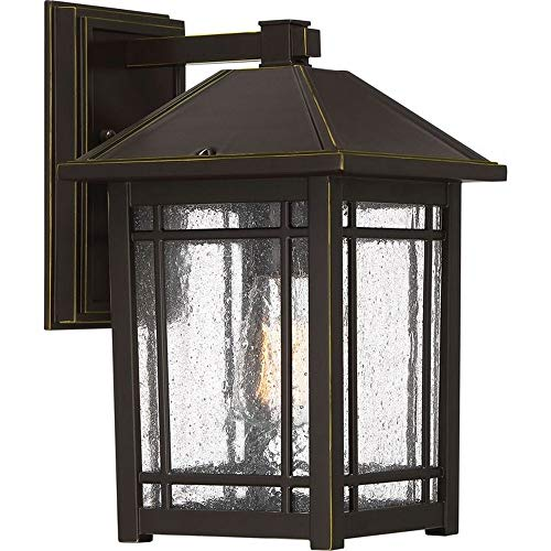 (Quoizel CPT8408PN Cedar Point Outdoor Mission Wall Sconce, 1-Light, 100 Watts, Palladian Bronze (13