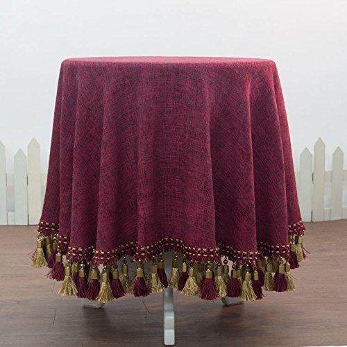 HL-PYL - Luxus im europäischen Stil, runde Tischdecke Tischdecke Tischdecke Tuch das Hotel Mat Tischdecke. Claret 220 X 220 Cm B0784L9TSG Tischdecken Roman     | Deutschland Online Shop