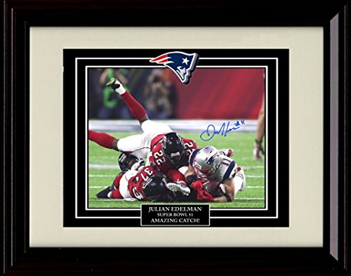 Framed Julian Edelman Autograph Replica Print - Amazing Catch!