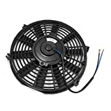 uxcell Black Shell DC 24V 12'' Radiator Air Conditioning Engine Cooling Fan for Car