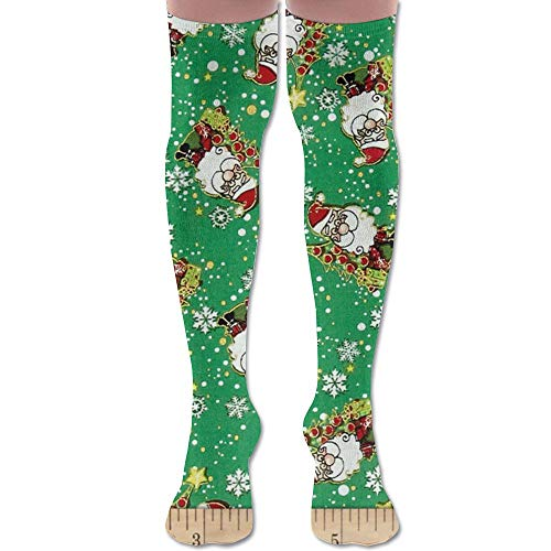 - SOCKS164 New Season's Greetings Jolly Santas Fashion Stylish Comfortable Knee High Socks Long Socks for Women and Men