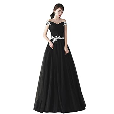 Amazon.com: Drasawee Women Lace Gown Off Shoulder Party Style ...