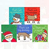 Fiona Watt Collection That's Not My Series 5 Books Set (Snowman, Reindeer... It's Body Is Too Furry, Santa, That's Not My Donkey, That's Not My Elf)