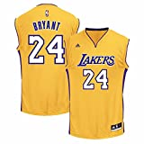 NBA Men's Los Angeles Lakers Kobe Bryant Revolution 30 Home Replica Jersey H Size (Gold, XXXX-Large)