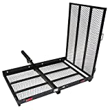 ALEKO MC500 227 Kilogram Capacity Wheelchair and Power Scooter Folding Cargo Carrier Rack with Foldable Ramp