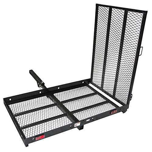 ALEKO MC500 500 Pound Capacity Wheelchair and Power Scooter Folding Cargo Carrier Rack with Foldable - Wheelchairs Power Electric Mobility Lift Chairs Scooters