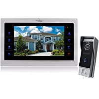 Bcomtech Doorbell Intercom 7 inch Video Door Phone Intercom system Camera Recorder Dual Way Talk 1200TVL 1V1 Metal Case Waterproof IP65 Slim Design