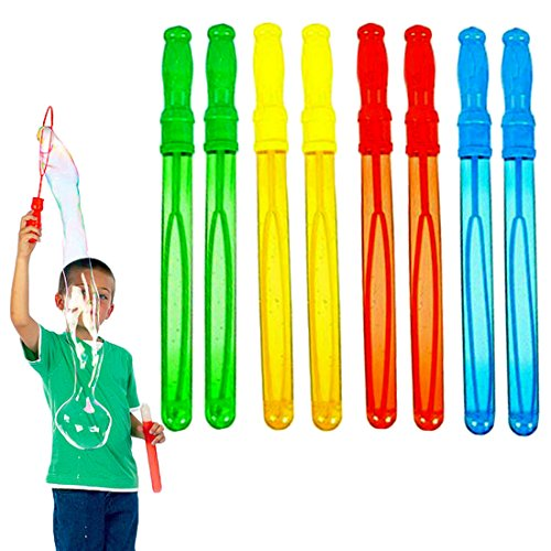 Big Bubble Wand Assortment - Super Value Pack of Summer Toy Party Favor (6 (Balloon Wand)