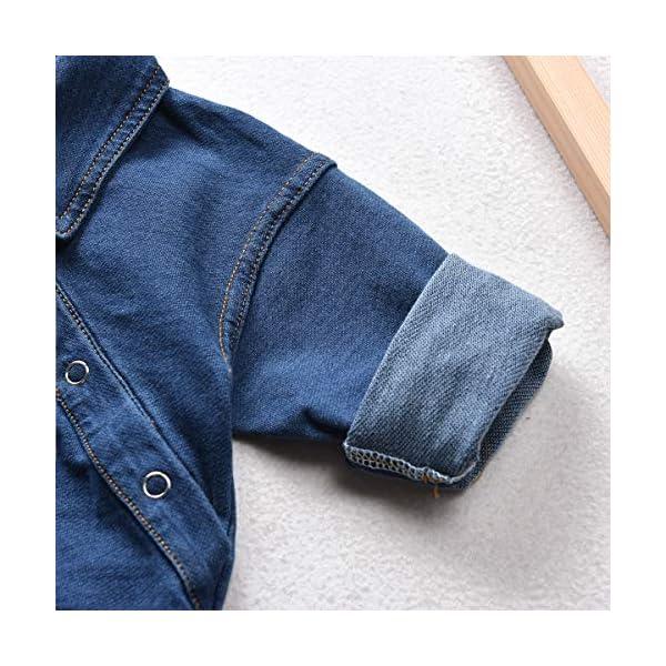 greatmtx - Tutina per neonato, in jeans 5