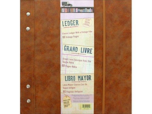 7 gypsies Architextures 12x12 Vintage Ledger - Leather