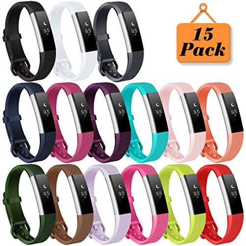 Maledan Bands for Fitbit Alta HR/Ace and Alta, 15 Pack by Maledan