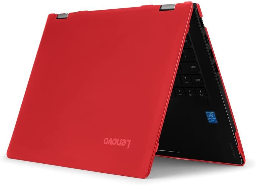 """iPearl mCover Hard Shell Case for New 14"""" Lenovo Ideapad Flex 6 14 (6-14IKB or 6-14ARR, NOT Compatible with Older Flex 4-14/5-1470 Series) Laptop Computers (FLEX6-14 Red)"""