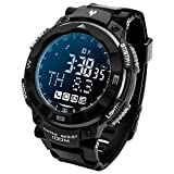 Smart Waterproof Sports Outdoor Watch Fitness Exercise Pedometer Diving Bluetooth Photo Mail Reminder For IOS And Android Phone (Gray)