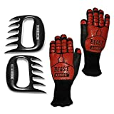 Grill Beast – BBQ Grilling Cooking Gloves with Meat Shedding Fork Claws – Smoker and Kitchen Accessories 2pc Combo Kit Review