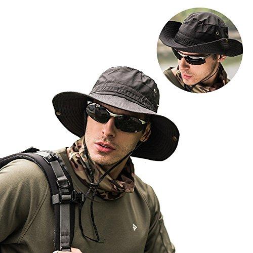 Peicees Fishing Hat Summer Sun Bonnie Hat UPF 50+ UV Protection Wide Brim Cap Waterproof Safari Adventure Camping Hiking Hunting Travel Beach Bucket Hat for Men Women Boys and Girls