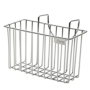 Kitchen Sponge Holder, Sink Caddy Brush Soap Dishwashing Liquid Drainer Rack - Stainless Steel