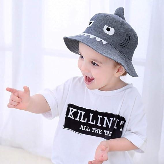 ❤ Sombrero de tiburón para bebé, bebé niño Niños Niños y niñas Sombrero Niños tiburón de Dibujos Animados Imprimir otoño Cap Absolute: Amazon.es: Ropa y ...