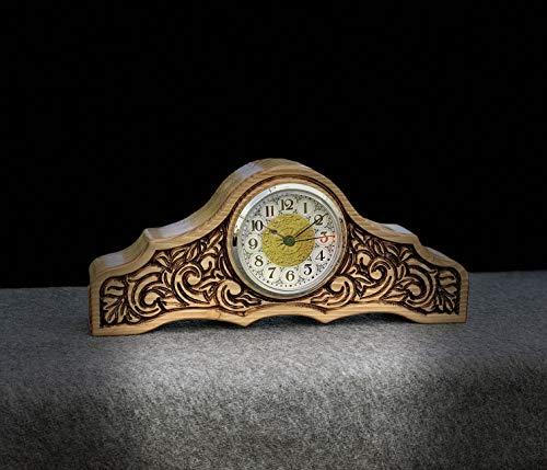 Carved Mantle - Carved Wooden Mantel Clock