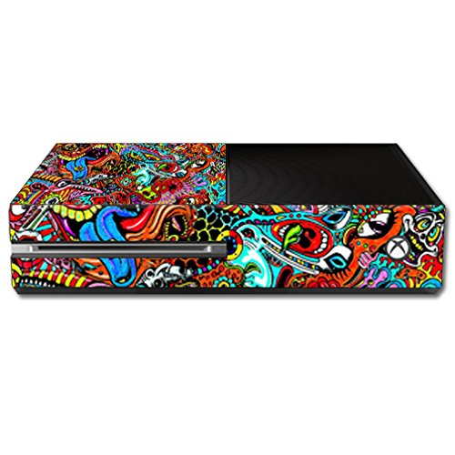 MightySkins Skin for Microsoft Xbox One - Acid Trippy | Protective, Durable, and Unique Vinyl Decal wrap Cover | Easy to Apply, Remove, and Change Styles | Made in The USA from MightySkins