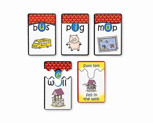 Learning Resources Funny Phonics Puzzle Cards, Short Vowels ()