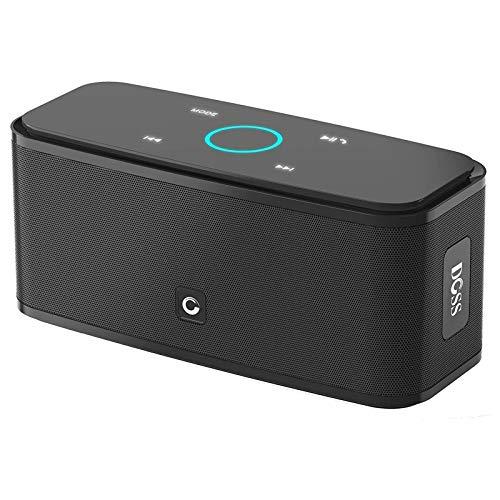 Bluetooth Speakers, DOSS SoundBox Touch Portable Wireless Bluetooth Speakers with 12W HD Sound and Bass, IPX5 Waterproof…