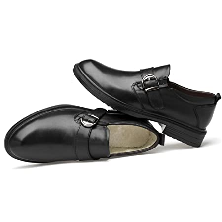 6d7a744b Best-choise Moda Oxford de los Hombres Cómodo y Conveniente Zapatos  Formales Forrados con vellón de Gran tamaño (Convencional Opcional)  Llamativo (Color ...