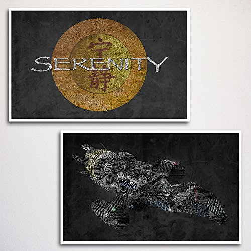 """Firefly and Serenity Art Print Two Set 11x17"""" unframed   typography art   made from quotes   wall home décor   scifi from The Art of Scott W Smith"""