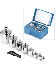 Neewer 8 Pieces 1000 Gram Stainless Steel Calibration Weight Set with Case and Tweezers for Digital Jewellery Scale Science Lab Weights Educational