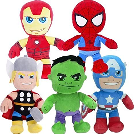 Bargains-Galore - Peluche de superhéroe de Marvel (aprox. 30 cm): Amazon.es: Juguetes y juegos