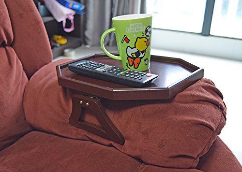 Utrax Wooden Sofa Arm Clip On Snack Table Chair Armrest