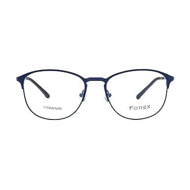 8ddce041a34 Amazon.com  FONEX Men Women Titanium Alloy Myopia Optical Glasses Frame  Eyewear 10012 (blue