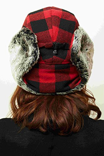 Plaid Bomber Hat Complete Inner Lining Hat for Skiing, Snowboarding Men and Women
