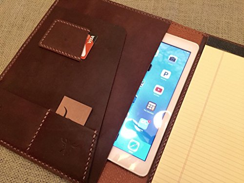 Personalized iPad Leather Padfolio by S.L.W. Atelier