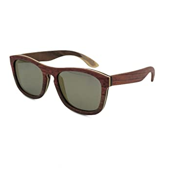 DFB Mode Skateboard Holz Holz Sonnenbrille Polarisierte Woody Gläser Holz Korn Männer Und Frauen Mit Absatz Bambus Gläser,D