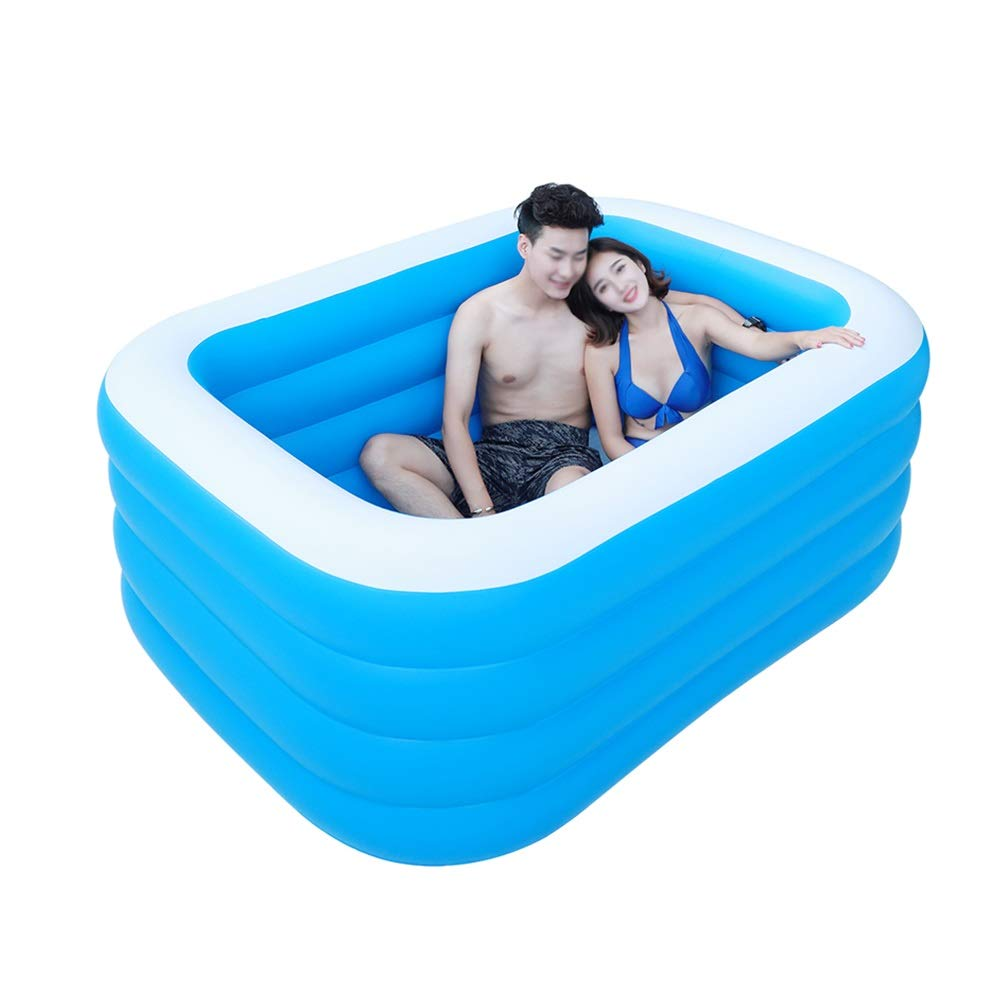GYZ Inflatable Bathtub, Portable Plastic, Adult Bathtub, Home freestanding Bathtub, Folding Bathtub, Baby Pool, Blue Inflatable hot tub (Color : A)
