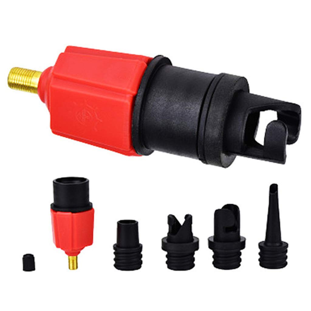 4 in 1 Air Valve Adapter Connector Inflatable Boat Kayak Sup Nozzle Pump Q2C9