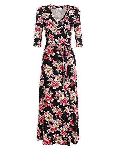 Floral Jersey Wrap Dress - 2