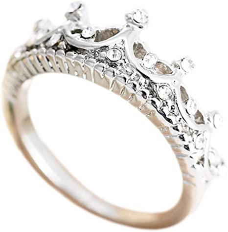 Da.Wa Moda Creativa Lindo Anillo de Diseño en Forma de Corona ...