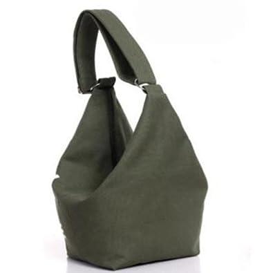 HITSAN INCORPORATION 2016 Women s Fashion Korean Style Canvas Preppy Campus  Shoulder Bag Handbag Shopping Bag Color Green  Amazon.in  Shoes   Handbags 8832898797d70