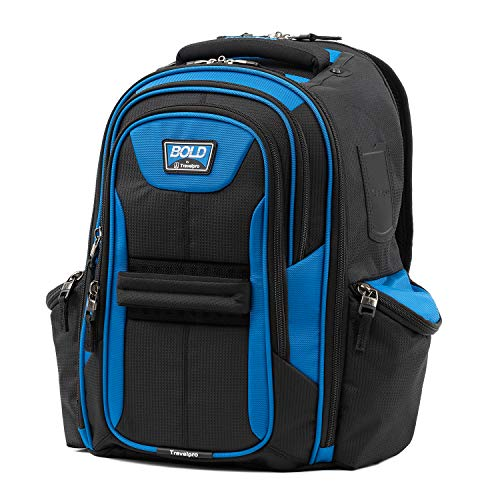 Travelpro Bold Computer Backpack With Laptop and Tablet Sleeves, Blue/Black