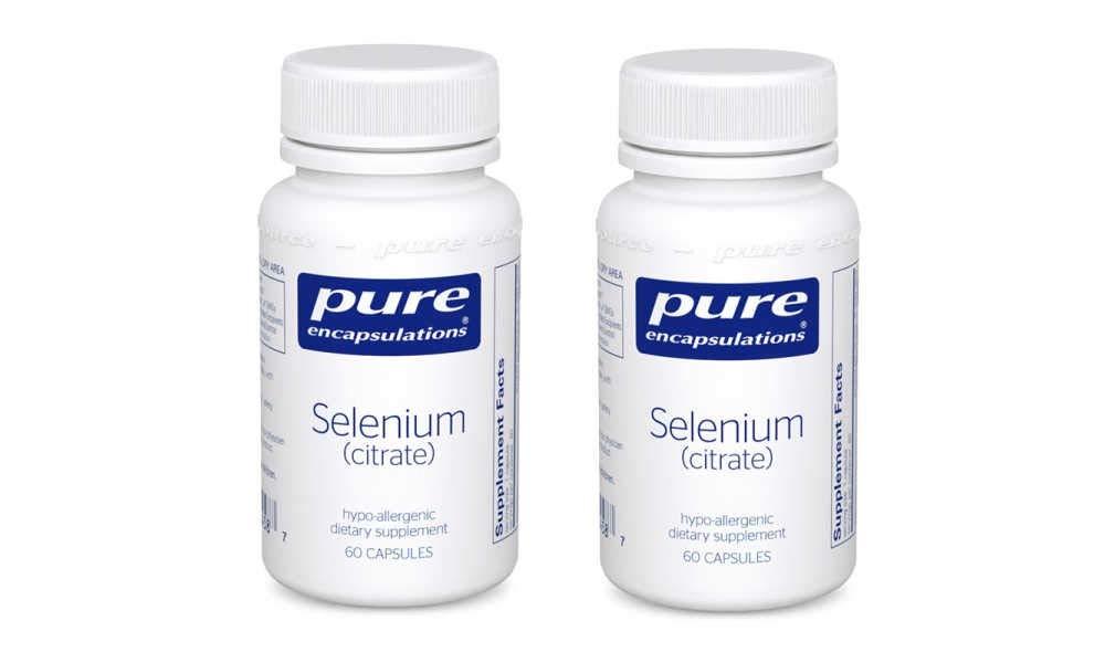 Pure Encapsulations Selenium Citrate Hypo-Allergenic Dietary Supplement - 60 Capsules (Pack of 2)