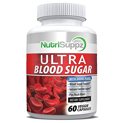 - Natural Ultra Blood Sugar Supplement - Helps Support Healthy Blood Sugar & Glucose Levels - Immune System, Heart, Pancreas, Diabetic, Glucose, Insulin with Bitter Melon, Licorice Root, Cayenne Pepper