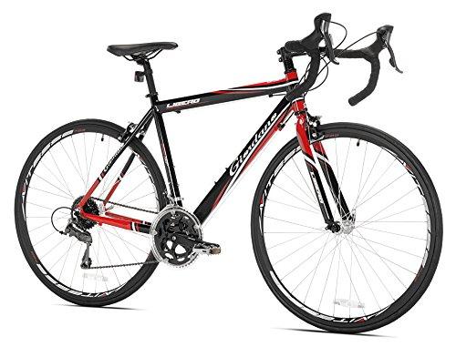 Giordano Libero 1.6 Road Bike, Black/Red, 51cm/Small