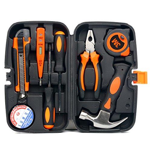 Yaetek 9-Piece Home Repair Tool Kit, Multi-functional & Universal 9 Pcs IN 1 Precision Screwdriver Set Repair Tool Kit for Garden Household Repair - Kit Mini Set Tool Compact