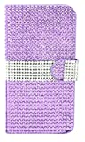 MM iPhone 6 Full Bling Wallet Case with 3 Credit Card Slots - Purple