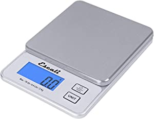 Escali Vera PR2000S Compact High Precision Kitchen/Baking/Herb Scale, Measures Liquid and Dry Ingredients, LCD Digital Display, 4.4lb Capacy, Silver