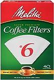 melitta no 6 filters - 40CT #6 WHT Cone Filter