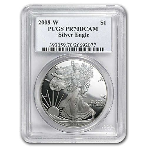 2008 W Proof Silver American Eagle 1 OZ PR-70 PCGS